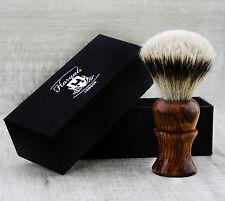 Silver Tip Hair Shaving Brush in Pure Rose Wood Handle 100% Badger Bristles
