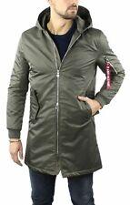 Parka Man Green Winter Waterproof Padded Jacket Slim Hood
