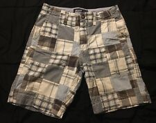 American Eagle Outfitters Patch Work Shorts AEO Sz 30 Men's Plaid Bermuda