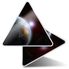 2 x Triangle Stickers 10 cm - Earth Space Globe  #2400
