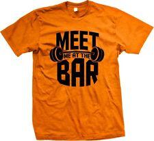 Meet Me At The Bar Weight Lifting Deadlift Dumbbell Fitness Mens T-shirt