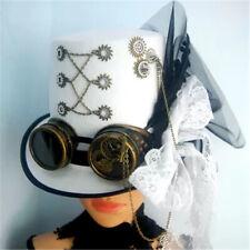 Victorian Retro Women Men White Gothic Masquerade Top Hat Cosplay Costume Gifts