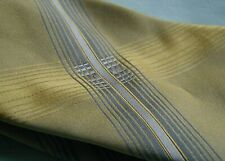 "Ermenegildo Zegna Necktie .  58"" + long. Yellow,Gold, Grey & Silver Design"