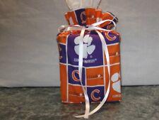 Clemson University Cotton Fabric Handmade square Tissue Box Cover