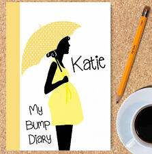 A5 PERSONALISED PREGNANCY DIARY, WIRE BOUND PREGNANCY JOURNAL, GIFT, OWN NAME,05