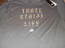 Adidas Three Stripe Life Go to Climalite soccer shirt Xl