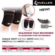 MUELLER Diamond Pad Schoner Ellenbogen-Knie-Schienbein in Schwarz 1 Paar XL