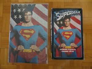 1978 Superman with Flag The Movie Jigsaw Puzzle DC Comics Complete