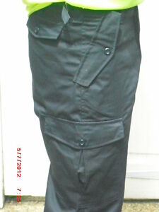 """Black Cargo Combat Trousers Sizes 30"""" to 46"""""""