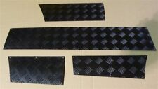 LAND ROVER DISCOVERY 1 BLACK CHEQUER PLATE DOOR/WING SKIRTING KIT (3 & 5 Door)
