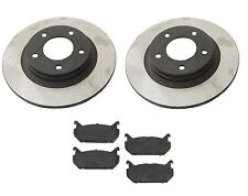 Mazda 626 98-02 V6 2.5L Aftermarket Rear Brake Kit Rotors & Semi Metallic Pads