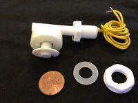 White PP Liquid Water Level Sensor Right Angle Float Switch n/c n/o  b21