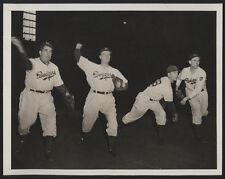 1943 Orig DODGER Press Photo - Dodger Pitchers Warm Up