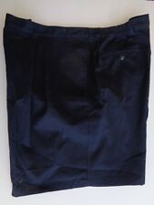 New CLIPPER  60 Waist Cotton  Side Elastic Pleated Front Walking Shorts Navy