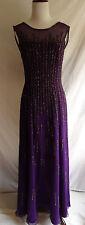 NWT Jovani 8 Purple 100% Silk Embellished Beaded Formal Evening Gown $840 Dress
