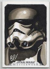 2015 Star Wars Masterwork Stormtrooper Sketch Card by Bill Pulkovski