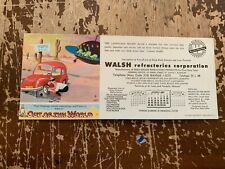 1962 Walsh Refractories Corporation ST. Louis Missouri Ink Blotter
