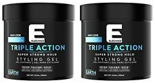 ELEGANCE Triple Action EARTH Super Strong Hold Styling Gel 16.9oz (PACK of 2)
