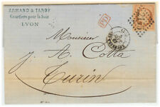 France cover 1867 Lyon to Turin (IT)