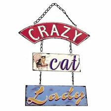 Crazy Cat Lady Sign Plaque Vintage Shabby Chic Gift WP_62324