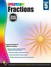 SPECTRUM MATH - Fractions Workbook, Grade 5 by Carson Dellosa