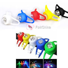 New Bicycle Cycle Bike Silicone Safety LED Warning Lamp Front/Rear Frog Light