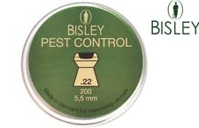 .22 Bisley Pest Control Air Rifle Gun Pellets 200 Tin Hunting Ammo 22