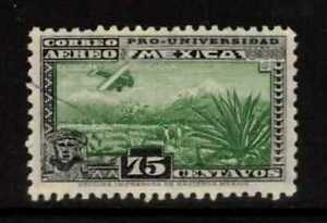 1934 Mexico National University Issue Airmail Air Post Stamp: Scott #C57