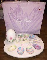 Vintage Ceramic Deviled Egg Serving Plate Egg Shaped Salt & Pepper Shakers