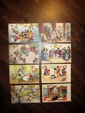 Antique Cats Kittens Dressed up in Clothes Post Cards Unused Clean (Eight Cards)