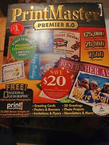 Print Master Platinum 8.0 Art CDs Border Bound Software Templates Brand New