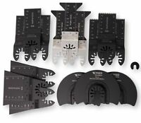 15 Wood/Metal Professional Oscillating Multi Tool Quick Release Saw Blades for