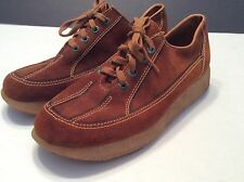 Womens Sunbacker Brown Suede Chunky Soles Sz 6 Lace Up Sneaker Vtg 70s Hippy