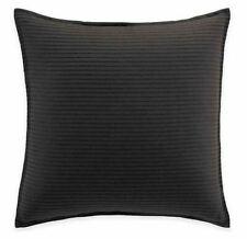 "Manor Hill Lowery European Pillow Sham in Black striped pattern 26' x 26"""