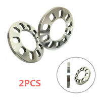 2PCS 5 holes 12mm Aluminum Wheel Spacer Shims Car Wheel Spacers Gasket Universal