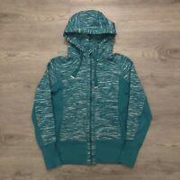 Zella Womens Athletic Full Zip Fitted Jacket Turquoise Size Medium