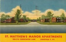 A View of St Matthews Manor Apartments, 208 Chenoweth Lane, Louisville KY 1960