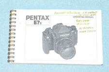 Pentax 67Ii Operating Manual