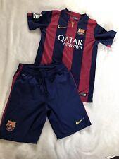 Barcelona Football Shirt Soccer Jersey Large L Boys Kit Shirt  13 - 15
