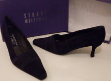 STUART WEITZMAN F PINET Blue Suede Pump Heels Court Shoes Size EU 36, 37 UK 3, 4