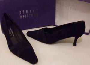 STUART WEITZMAN F PINET Navy Fitted Pump Court Shoes Size EU 36, 37 UK 3, 4
