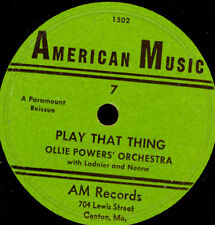 OLLIE POWER'S ORCH. (LADNIER & NOONE) Play that thing/ IDA COX Rampart St. X2828
