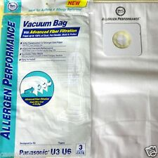 3 Panasonic U3 U6 Upright Vacuum Bags Allergen Performance Made by DVC