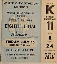 More details for uruguay v france world cup eighth final fri.15/7/66 ticket white city stadium.
