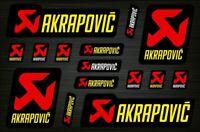 Akrapovic Abziehbild Aufkleber Auspuff Graphics Set Autocollant Aufkleber /582
