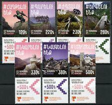 More details for armenia military stamps 2020 mnh insurance foundation servicemen 7v set + coupon