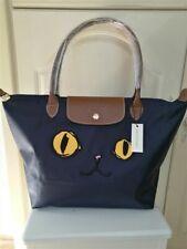 Authentic Longchamp - Navy Blue Handbag Le Pliage Cat tote bag L