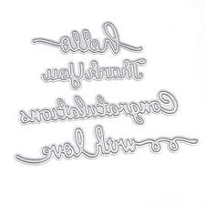 4 Pcs Greetings Cutting Dies Stencils Set DIY Scrapbooking Embossing Decor Craft