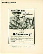 The Mercenary (1968) Franco Nero, Tony Musante, Eduardo Fajardo  pressbook