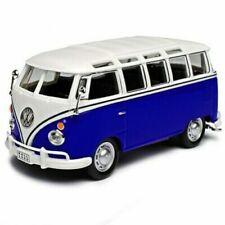 VW VOLKSWAGEN BUS 1:43 Toy Car NEW Samba Bus Diecast Camper Cars Blue